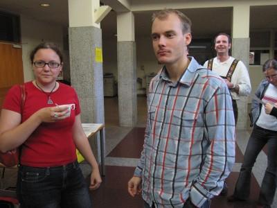 Salzburger Freundschaftsturnier 2006 Sabine Rainalter, Matthias Moser während Pause