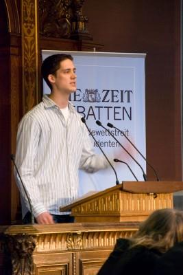 Peter Croonenbroeck im Finale der ZEIT DEBATTE Wien