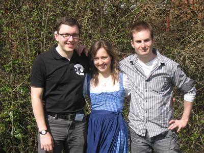 Das Team des Debattierklub Wien für die Süddeutsche Meisterschaft 2011: Florian Prischl, Cornelia Huber und Thomas Keil (vlnr).