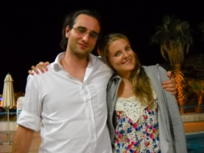 half of the Viennese Team. Aron & Melanie. imagine Rosi and Agniezska beneath us.