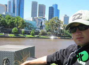 Chilling at Yarra River.