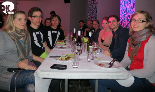 The full DKWien contingent at the salmon dinner at SSE