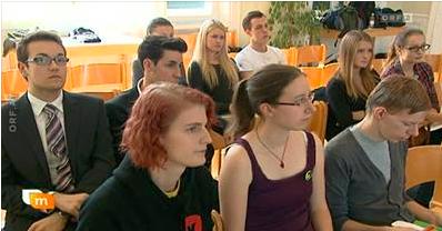 DKWien-Jury bei der Schülerdebatte an der Schumpeter Handelsakademie