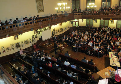 A spiritual experience: the final in the chamber of The Cambridge Union Society