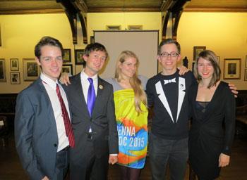 The Vienna 'Contingent of Hotties for Cambridge IV 2013' in all its beauty: Callum Davidson, Stefan Zweiker, Melanie Sindelar, Andreas Prischl, Madlen Stottmeyer