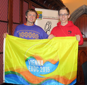 Andreas Prischl and Stefan  Zweiker went on the way to Ireland to meet the Irish Debating Clan