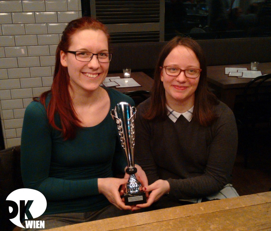 "Competing as ""The Wien Machine"", Kata Sebők and Anna Neuber won the Novice Final of the Leiden Open 2016."